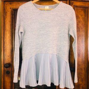 LC Lauren Conrad layered tunic sweater Sz S